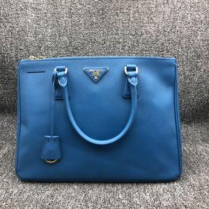 PRADA 普拉达女士蓝色手提包杀手包