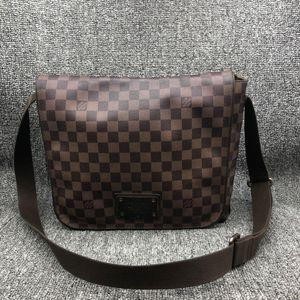Louis Vuitton 路易·威登男士中棋盘单肩包公文包