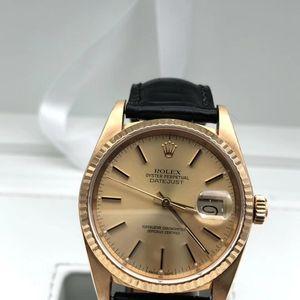 Rolex 劳力士日志款18k黄金男士腕表