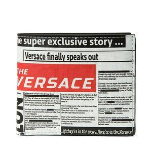 Versace 范思哲男士钱包报纸印花系列牛皮钱夹