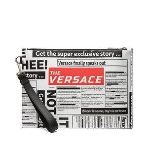 Versace 范思哲报纸印花系列手挽包手包