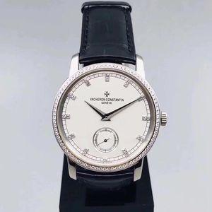 Vacheron Constantin 江诗丹顿传袭系列82572/000G白金原镶钻机械腕表