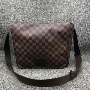 Louis Vuitton 路易·威登棕棋盘男士单肩斜挎公文包