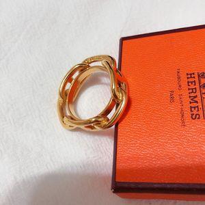 Hermès 爱马仕金色丝巾扣