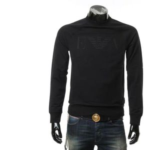 Emporio Armani 安普里奥·阿玛尼鹰标男士圆领纯色套头卫衣