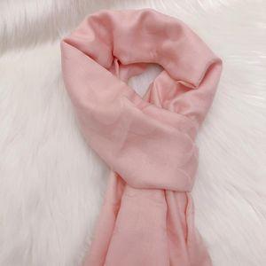 COACH 蔻驰裸粉色羊绒桑蚕丝新款围巾