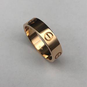 Cartier 卡地亚Love玫瑰金色63号戒指