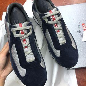 PRADA 普拉达男士麂皮休闲鞋