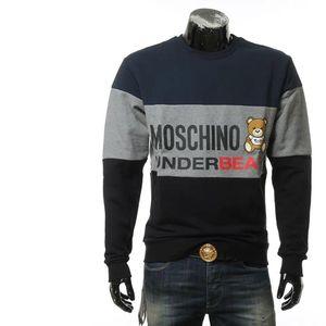 Moschino 莫斯奇诺男士小熊拼色毛里套头卫衣