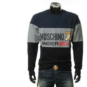 Moschino 莫斯奇诺男士小熊拼色毛里保暖套头卫衣