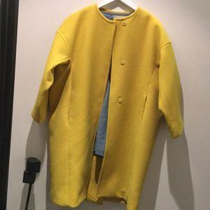 Marni 玛尼真丝内衬纯羊毛廓形大衣