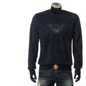 Emporio Armani 阿玛尼男士绒面圆领套头卫衣