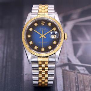 Rolex 劳力士日志系列18K黄金稀有蓝色表盘自动机械表