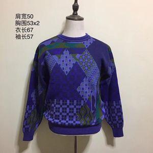 KENZO 高田贤三炫彩艺术图案时尚休闲羊毛针织衫