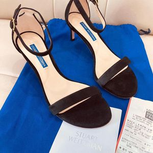 stuart weitzman 斯图尔特·韦茨曼女士黑色高跟鞋