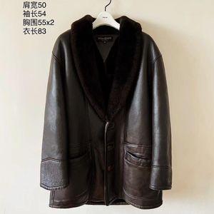 Yves Saint Laurent伊夫·圣罗兰限量款皮毛一体皮衣大衣