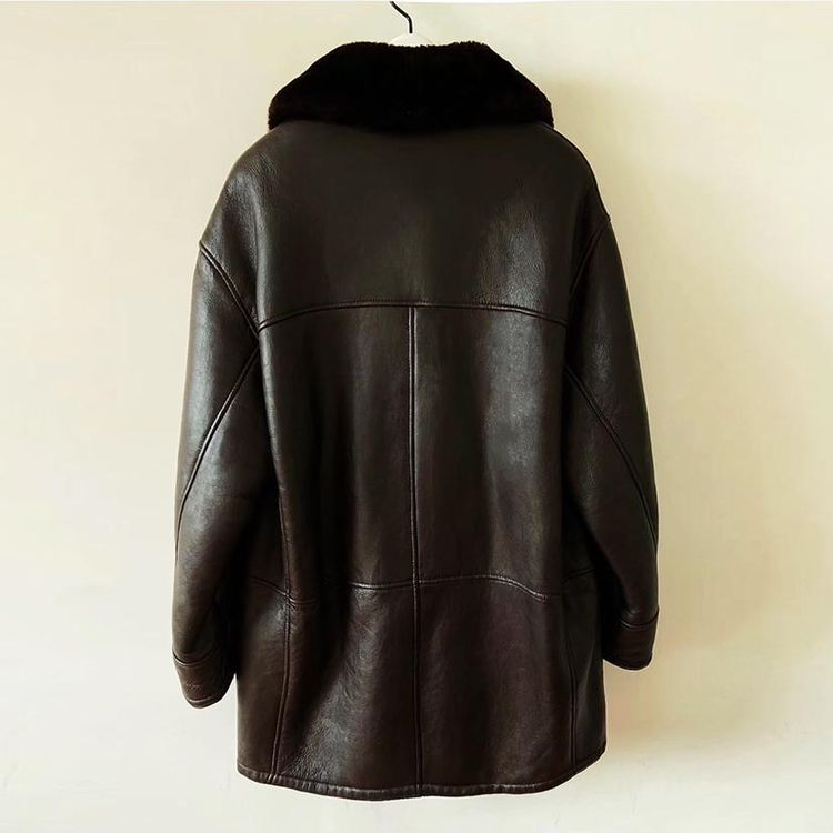 Yves Saint Laurent伊夫·圣罗兰限量款皮毛一体风衣皮衣