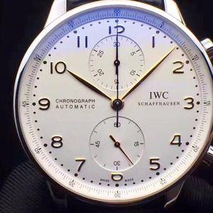 IWC 万国葡萄牙计IW371445自动机械计时精钢金针男表