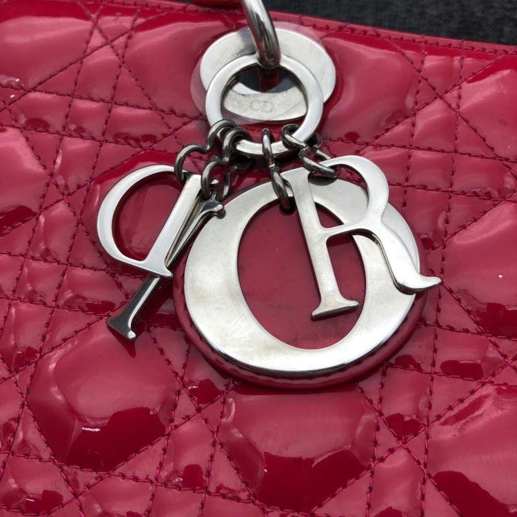 Dior 迪奥漆皮七格戴妃手提包