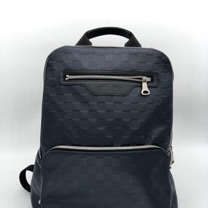 Louis Vuitton 路易·威登男士蓝色拼黑色牛皮双肩包