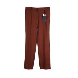 PRADA 普拉达红棕色休闲裤
