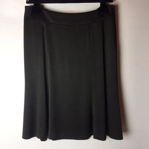 ARMANI 阿玛尼黑色真丝半裙