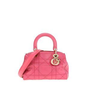 Dior 迪奥玫红色手提包