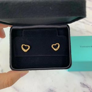 Tiffany & Co. 蒂芙尼open heart系列18k金爱心耳钉