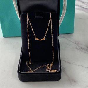 Tiffany & Co. 蒂芙尼18k玫瑰金mini小微笑项链