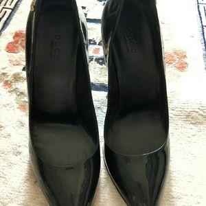 GUCCI 古驰漆皮高跟鞋