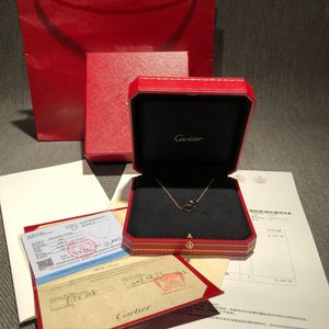 Cartier  卡地亚Love系列玫瑰金双环项链