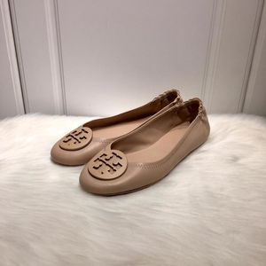 Tory Burch 托里·伯奇女士粉色羊皮芭蕾舞软底鞋