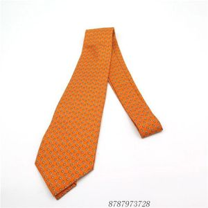 Hermès 爱马仕斜纹真丝金黄色领带