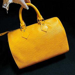 Louis Vuitton 路易·威登招财黄水波纹sp25枕头手提包