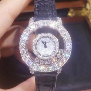 Chopard 萧邦快乐钻石系列209412-1001白金原钻石英女表