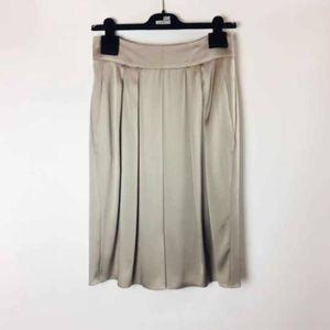 ARMANI 阿玛尼银灰色真丝半裙