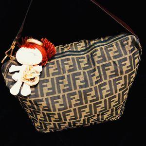 FENDI 芬迪经典老花可折叠拉链款托特购物袋单肩包