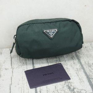 PRADA 普拉达墨绿色尼龙手包