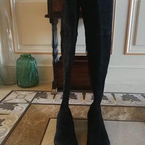 stuart weitzman 斯图尔特·韦茨曼经典lowland黑色过膝长靴