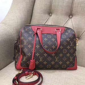 Louis Vuitton 路易·威登老花拼皮手提单肩包