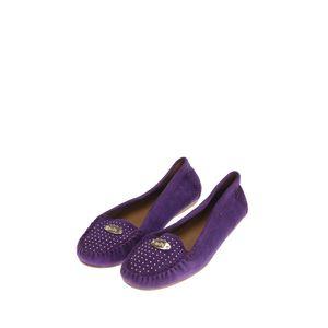COACH 蔻驰紫色平底鞋
