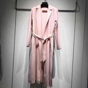 MaxMara 麦丝玛拉羊毛羊绒桑蚕丝混纺女士大衣