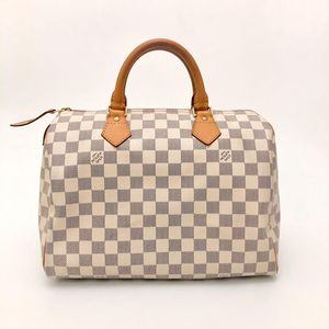 Louis Vuitton 路易·威登白棋盘格SP30枕头手提包