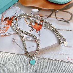 Tiffany & Co. 蒂芙尼珐琅心全珠项链