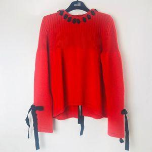 FENDI 芬迪红色羊絨针织衫