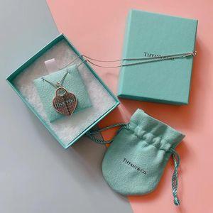 Tiffany & Co. 蒂芙尼珐琅爱心项羽项链