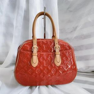 Louis Vuitton 路易·威登红色漆皮珍妮手提包