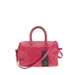 Yves Saint Laurent 伊夫·圣罗兰玫红色单肩包