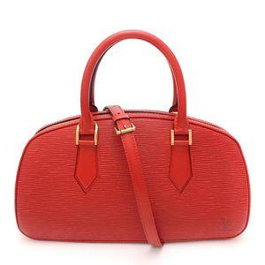 Louis Vuitton 路易·威登正红色纯牛皮水波纹元宝包