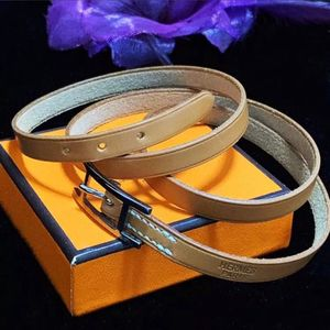Hermès 爱马仕经典H扣腰带款纯皮多圈手环